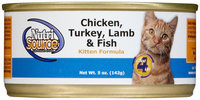 Nutri-source Chicken/Turkey/Lamb/Fish Kitten Food