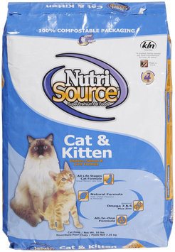 Nutri-source Chicken, Salmon and Liver Cat/Kitten Food - Size: 16-lb bag