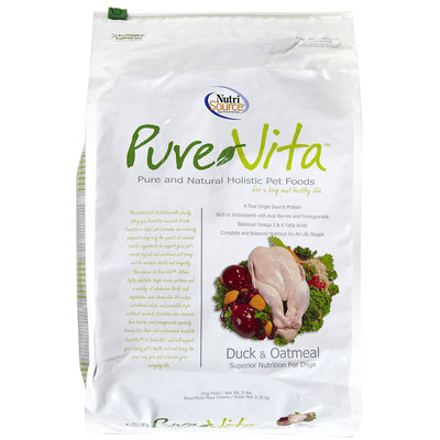 Pure Vita Dry Dog Food - Duck & Oatmeal