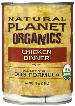 Natural Planet Organics Dog Formula - Chicken - 12 x 13 oz