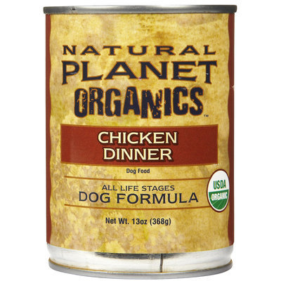 Natural Planet Organics Dog Formula - Chicken - 12 x 13 oz
