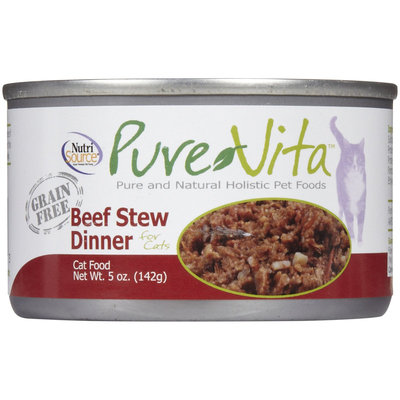 Phillips Feed & Pet Supply Pure Vita Grain Free Beef Stew Can Cat Food