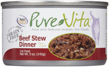 Purevita Grain Free Beef Stew Canned Cat Food (5-oz, case of 12)