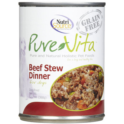 Phillips Feed & Pet Supply Pure Vita Beef Stew Can Dog Food 12 Pack
