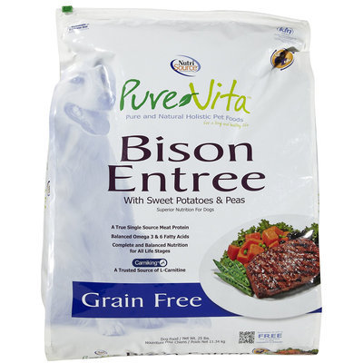 Phillips Feed & Pet Supply Pure Vita Grain Free Bison Dry Dog Food 25lb