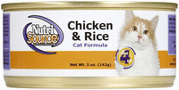 Nutri-source Chicken and Rice Canned Cat Food