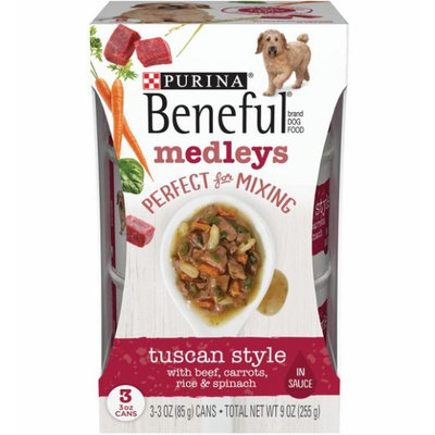 Beneful Tuscan Style Medleys With Beef Carrots Rice And Spinach