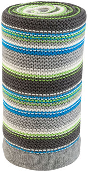 Stokke Xplory Knitted Blanket In Grey And Blue