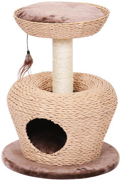 Petpals Group PetPals Jump-up Apple Shaped Cat Condo with Lookout Perch