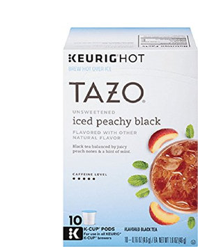 Tazo Unsweetened Iced Peachy Black Tea K-Cup® Pods