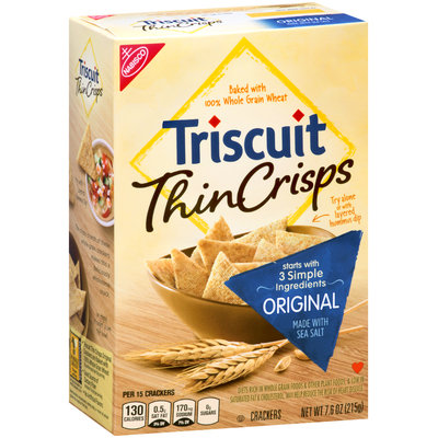 Nabisco Triscuit - Crackers Thin Crisps - Baked Whole Grain Wheat Original