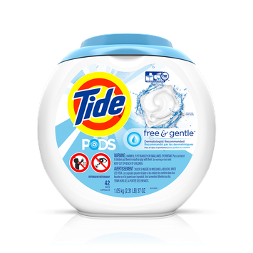 Tide PODS® Free and Gentle Laundry Detergent