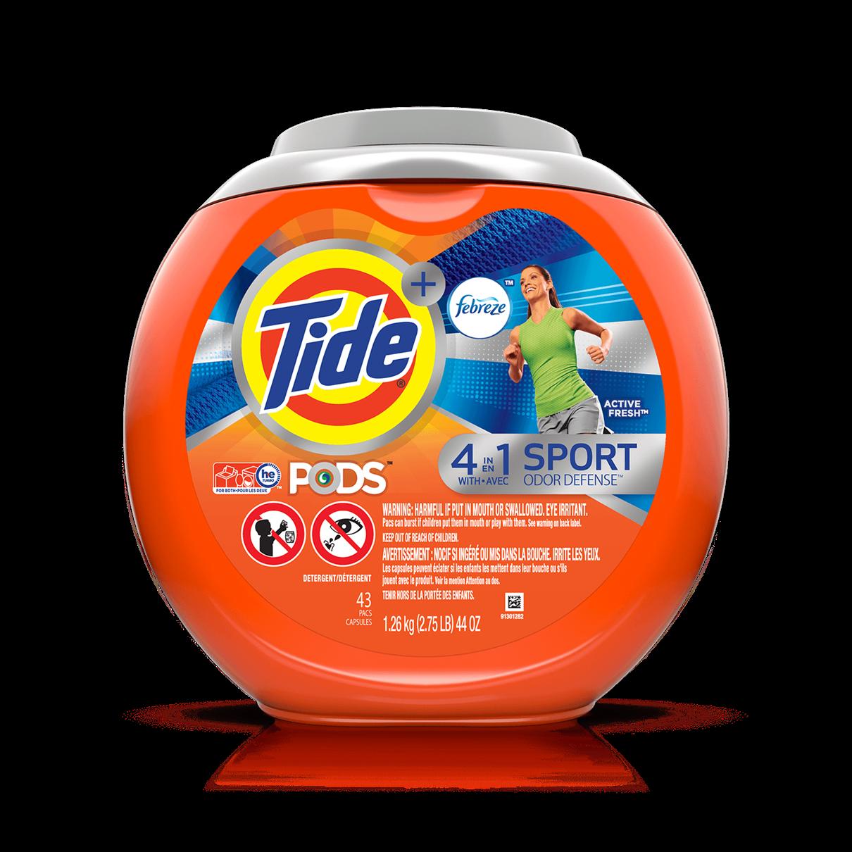 Tide PODS® Plus Febreze Sport Odor Defense™ Laundry Detergent
