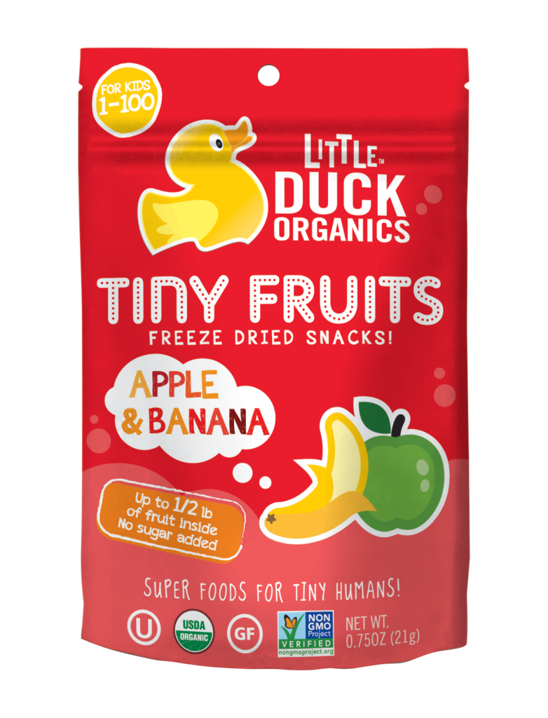 Little Duck Organics Apple & Banana Tiny Fruits