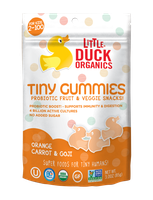 Little Duck Organics Orange, Carrot & Goji Tiny Gummies
