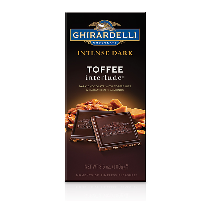 Ghirardelli Dark Chocolate Toffee & Caramelized Almonds Bar