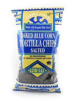 Trader Joe's Baked Blue Corn Tortilla Chips Salted