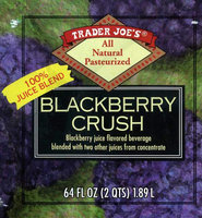 Trader Joe's Blackberry Crush Juice