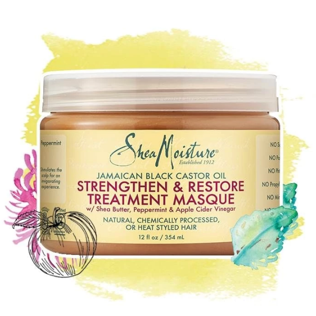 SheaMoisture Jamaican Black Castor Oil Strengthen Grow & Restore Treatment Masque