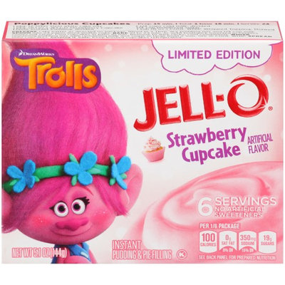 JELL-O Trolls Strawberry Cupcake Instant Pudding & Pie Filling
