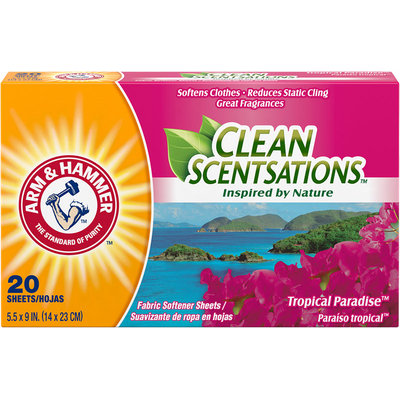 ARM & HAMMER™ Clean Scentsations™ Fabric Softener Sheets Tropical Paradise