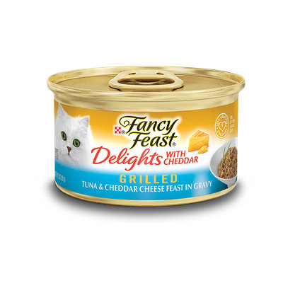 Fancy Feast® Delights With Cheddar Grilled Tuna & Cheddar Cheese Wet Cat Food In Gravy