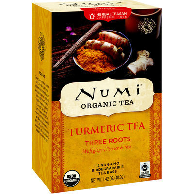 Numi Organic Tea Turmeric Tea Three Roots