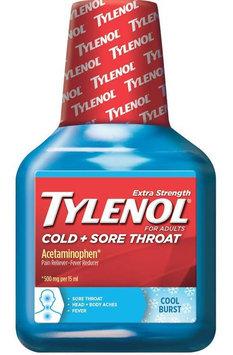 Tylenol® Cold + Sore Throat Cool Burst Liquid
