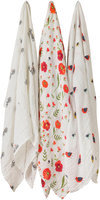 Little Unicorn Cotton Muslin Swaddle - Summer Poppy Set