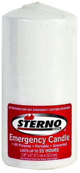 Sterno 40256 6 in. Column Unscented Emergency Candle