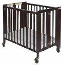 Foundations HideAway Folding, Fixed Side, Full Size Crib Antique Cherry