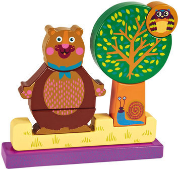 Oops My Magnetic Puzzle! Stacking Wooden Blocks - Forest