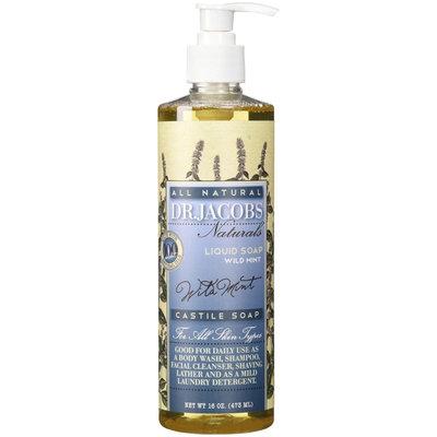 Dr. Jacobs Naturals - All Natural Liquid Castile Soap Wild Mint - 16 oz.