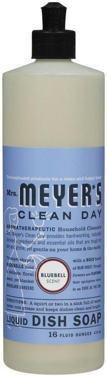 Mrs. Meyer's Clean Day Bluebell Liquid Dishwashing Soap