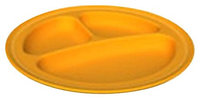 Green Toys 1203959 Divided Plate - Orange - 2 Pack