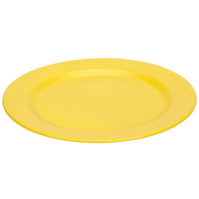 Green 3 Green Eats 2 Pack Plates, Yellow