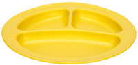Green Toys 1203967 Divided Plate - Yellow - 2 Pack