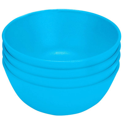 Green Toys Green Eats Snack Bowl, 4pk, Blue