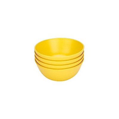 Green Eats Snack Bowl, 4pk, Yellow