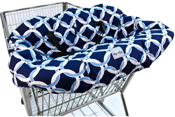 Itzy Ritzy Shopping Cart & High Chair Cover Social Circle Blue