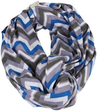Itzy Ritzy Infinity Breastfeeding Scarf - Blue Skies Chevron - 1 ct.