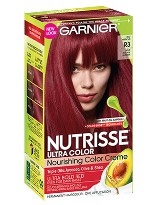 Garnier® Nutrisse® Ultra Color Nourishing Color Creme R3 Light Intense Auburn
