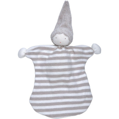 Under the Nile Nature's Nursery Sleeping Doll Toy in Tan Stripes