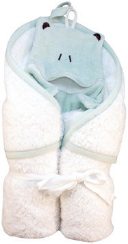 Under the Nile Bath Time Favorites Hooded Towel and Frog Wash Cloth Set