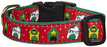 Up Country Christmas Doghouse Dog Collar