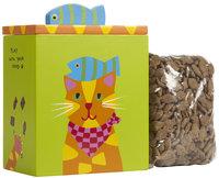 Up Country Cat Treat Box - Orange & Yellow