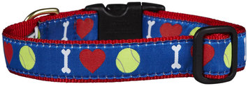 Up Country Tennis Ball Dog Collar