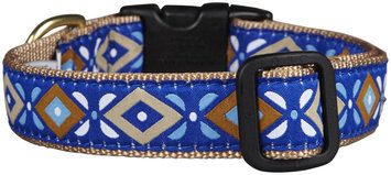 Up Country Aztec Blue Dog Collar