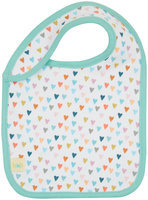 KATEBABY Organic Cotton Bib - Multi Hearts - 1 ct.