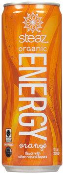 Steaz ENERGY DRINK, OG2, ORANGE, (Pack of 12)